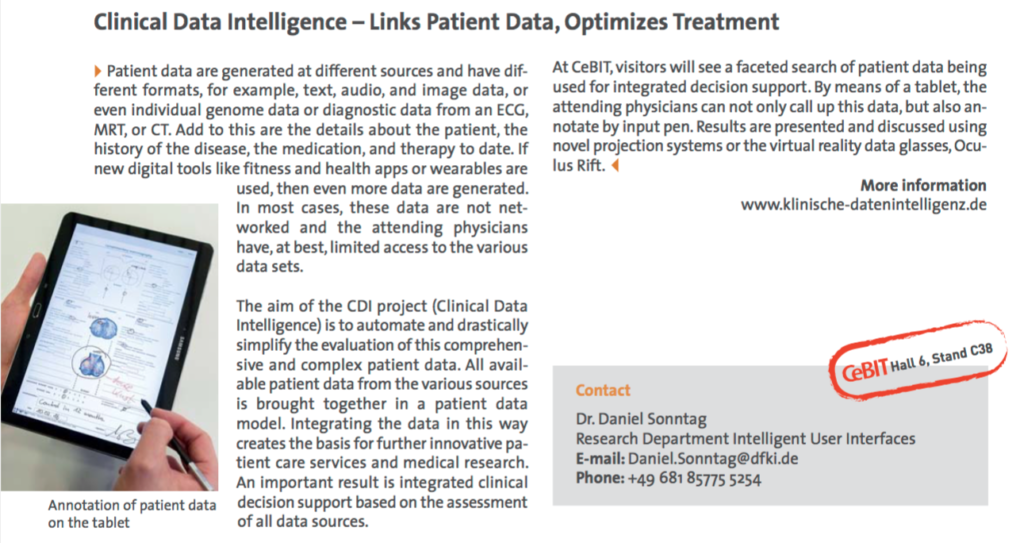 Clinical Data Intelligence - Links Patient Data, Optimizes Treatment